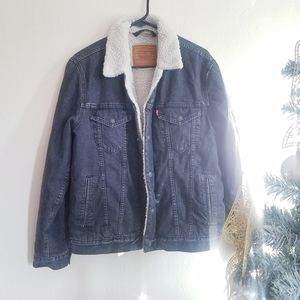 Levi Fegin Sherpa Trucker Denim Jacket